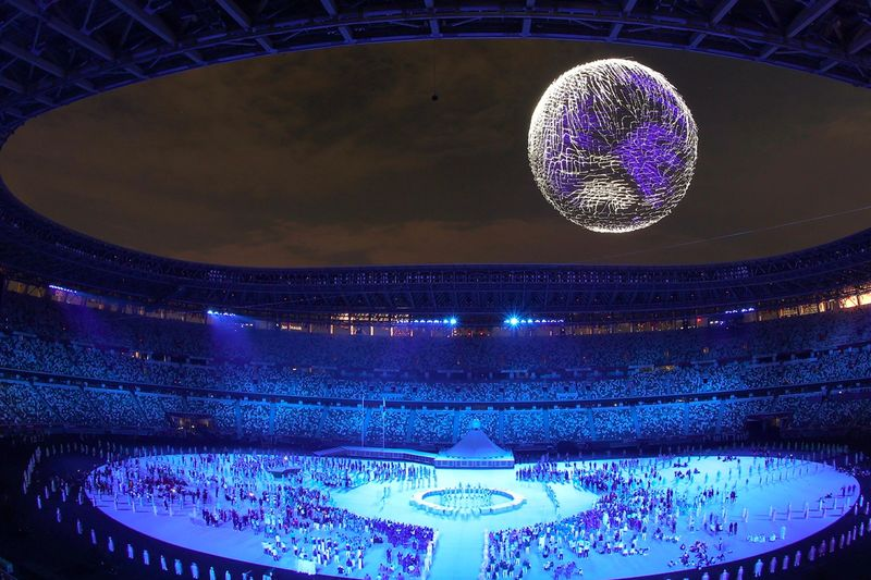 Geekerhertz,display,earth,1800,drones,drone,2021,Tokyo,Games,Olympic,news,